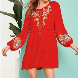 Boho Frilled Tiered Dress